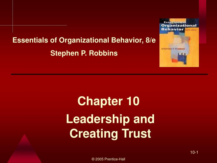 leadership and creating trust n.