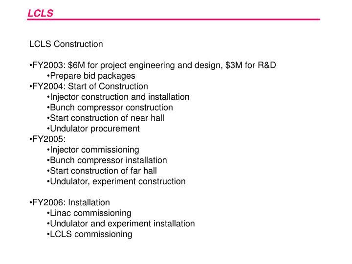 LCLS Construction