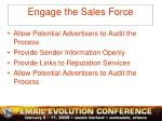 engage the sales force