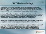 1997 review findings