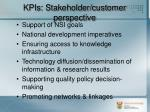 kpis stakeholder customer perspective