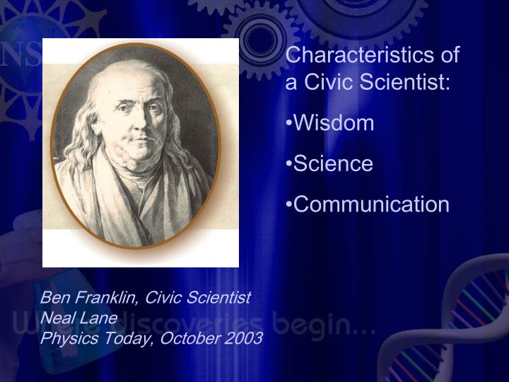 Characteristics of a Civic Scientist: