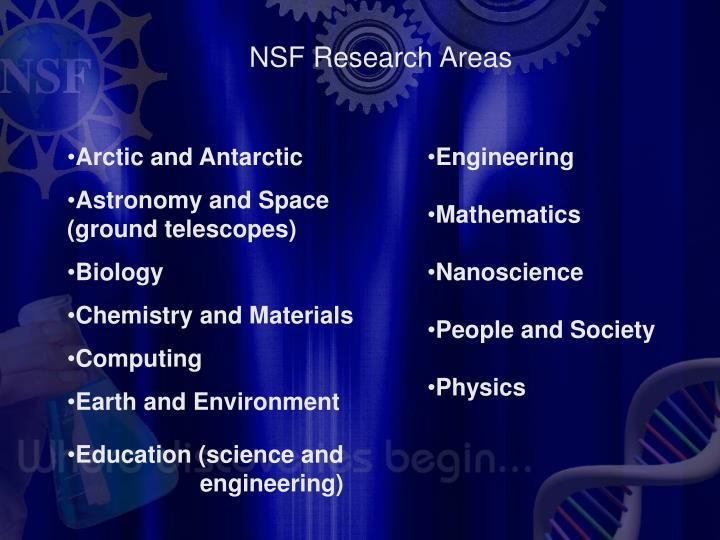 NSF Research Areas