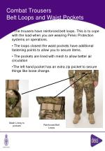 combat trousers belt loops and waist pockets