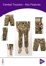 combat trousers key features