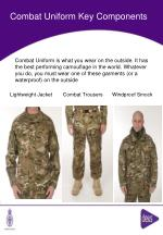 combat uniform key components