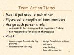 team action items