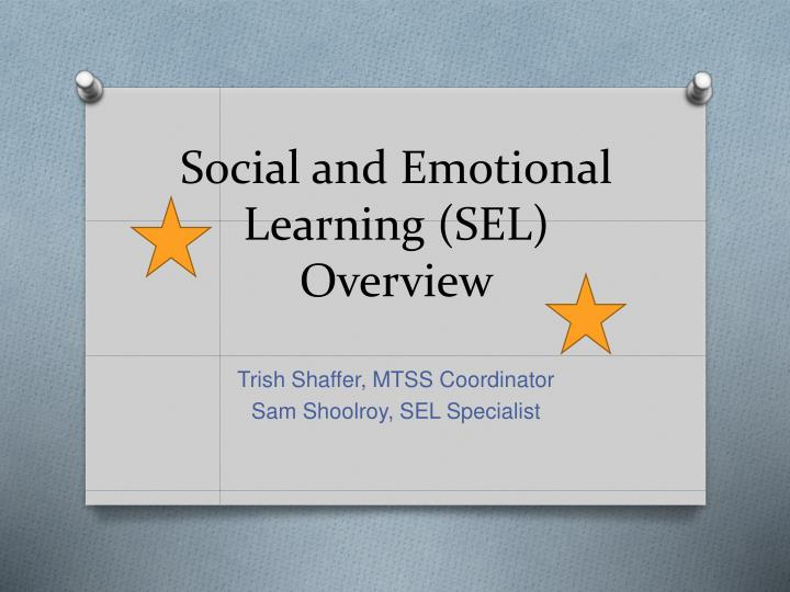 social and emotional learning sel overview n.