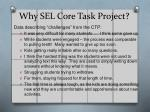 why sel core task project