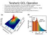 terahertz qcl operation