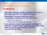mesures visant favoriser le maintien l installation et les coop rations1