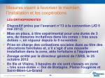 mesures visant favoriser le maintien l installation et les coop rations14