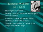 tennessee williams 1911 1983