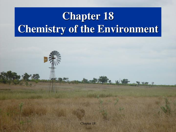 chapter 18 chemistry of the environment n.