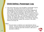 child safety passenger log