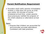 parent notification requirement