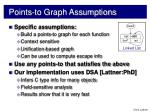 points to graph assumptions