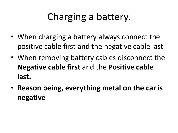 Charging a battery.