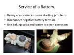 service of a battery