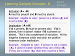 learning complex concepts ii5