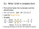 ex write 12 42 in simplest form