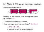 ex write 2 5 8 as an improper fraction