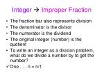 integer improper fraction