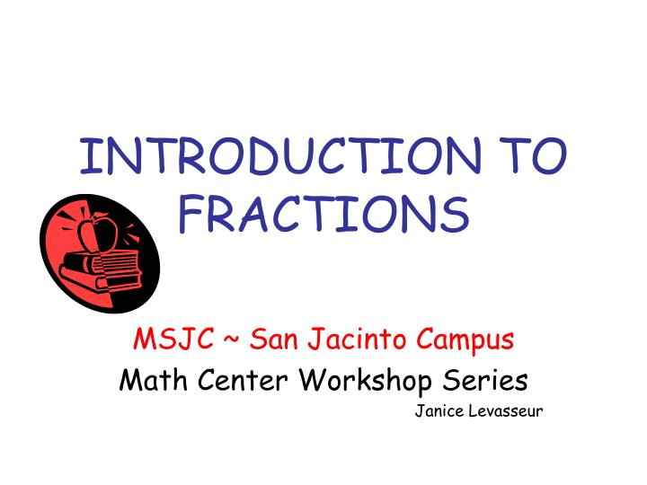 introduction to fractions n.