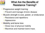 what are the benefits of resistance training