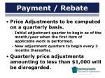 payment rebate