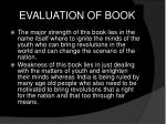 evaluation of book