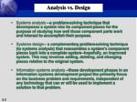 analysis vs design