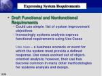 expressing system requirements