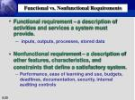 functional vs nonfunctional requirements