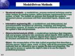 model driven methods