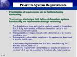 prioritize system requirements