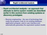 rapid architected analysis