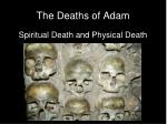 the deaths of adam