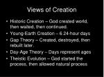 views of creation
