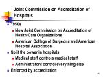 joint commission on accreditation of hospitals