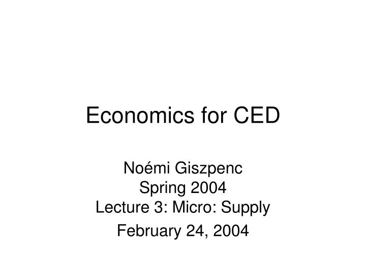 economics for ced n.
