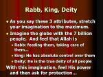 rabb king deity