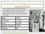 enlistment by women in canada s armed forces