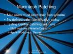 macintosh patching