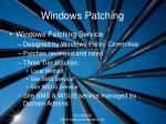 windows patching