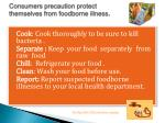 consumers precaution protect themselves from foodborne illness