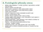 a fyziologick p znaky stresu