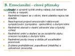 b emocian ln citov p znaky stresu