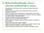c behavior ln p znaky stresu chov n a jedn n lid ve stresu