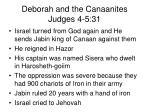 deborah and the canaanites judges 4 5 31